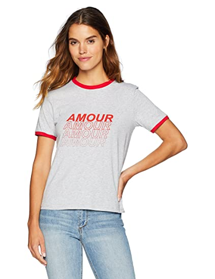 The Fifth Label - Amour T-Shirt - Grey Marle w Red