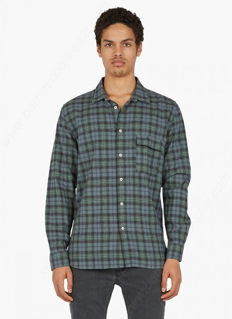 Barney Cools - Cabin LS Shirt - Washed Blue Plaid