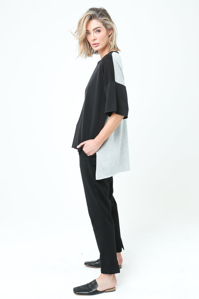 Dref-By-D - Adra Tee - Black / Grey Marle