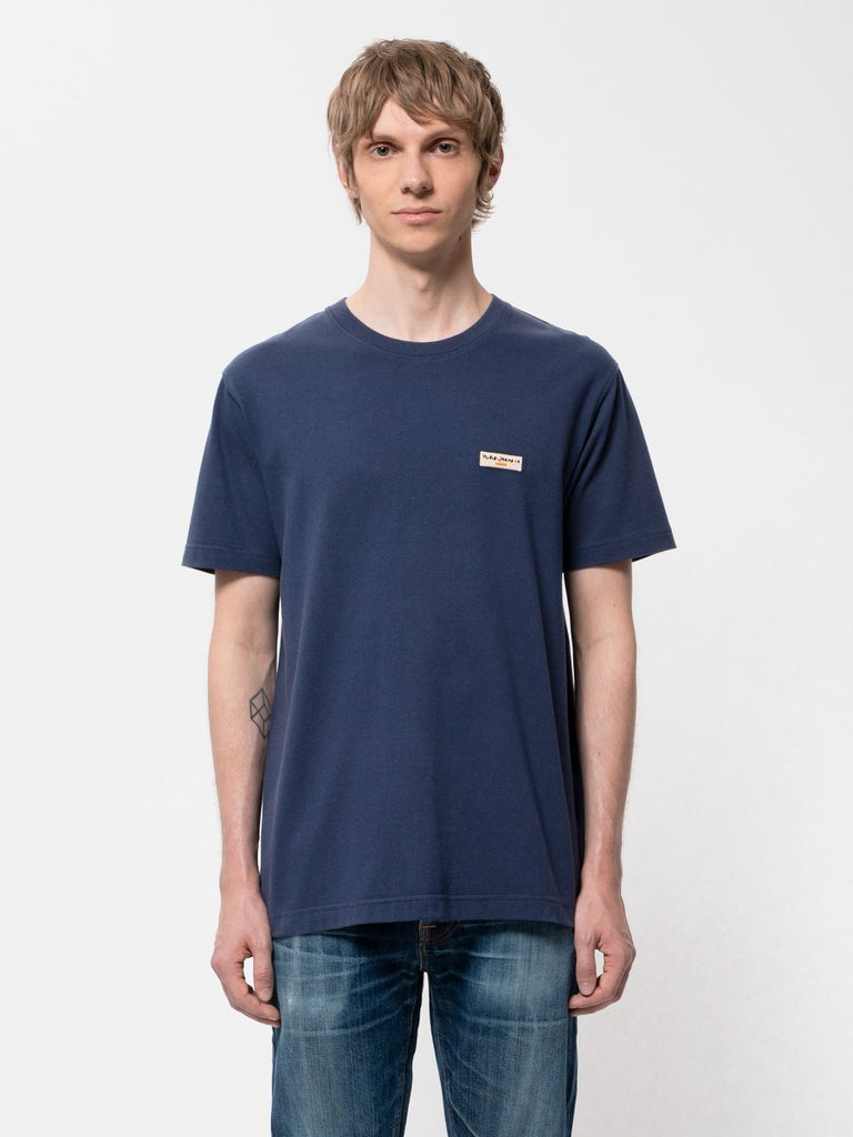 Nudie - Daniel Logo Tee - Midnight