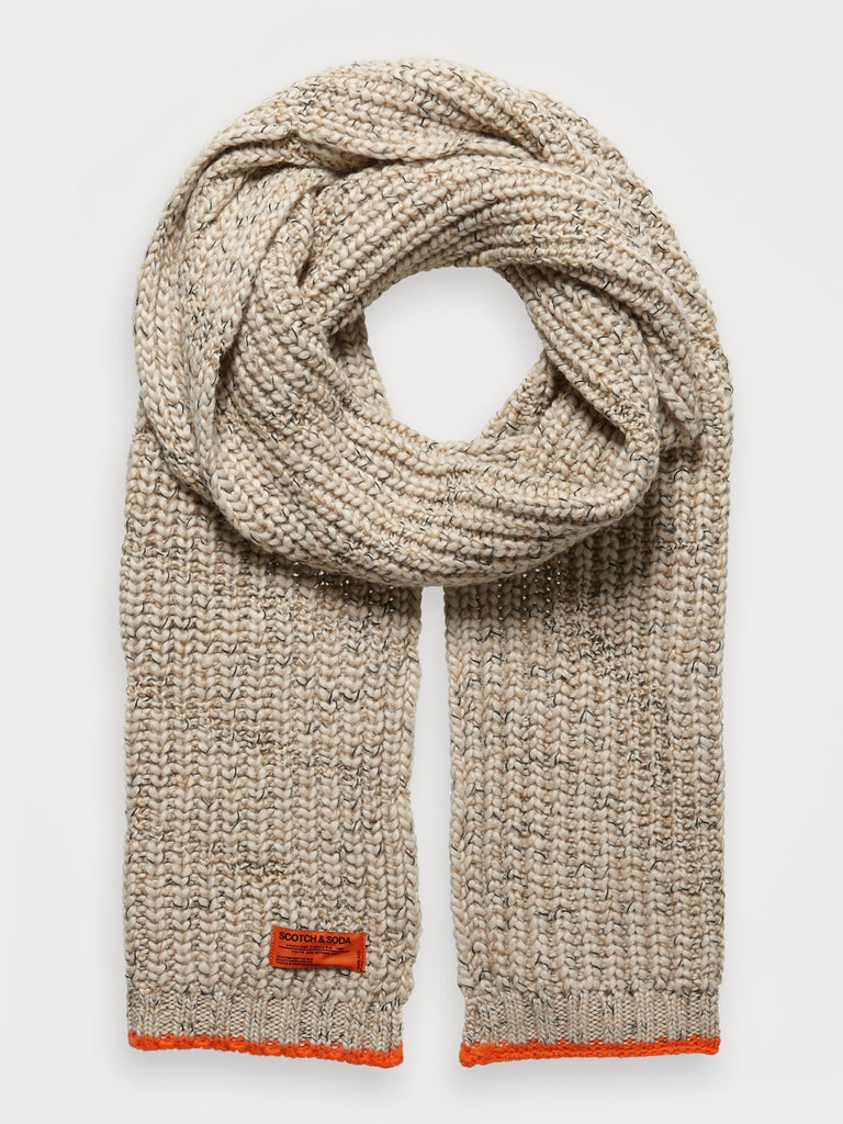 Scotch & Soda - Melange Knit Scarf - Caramel