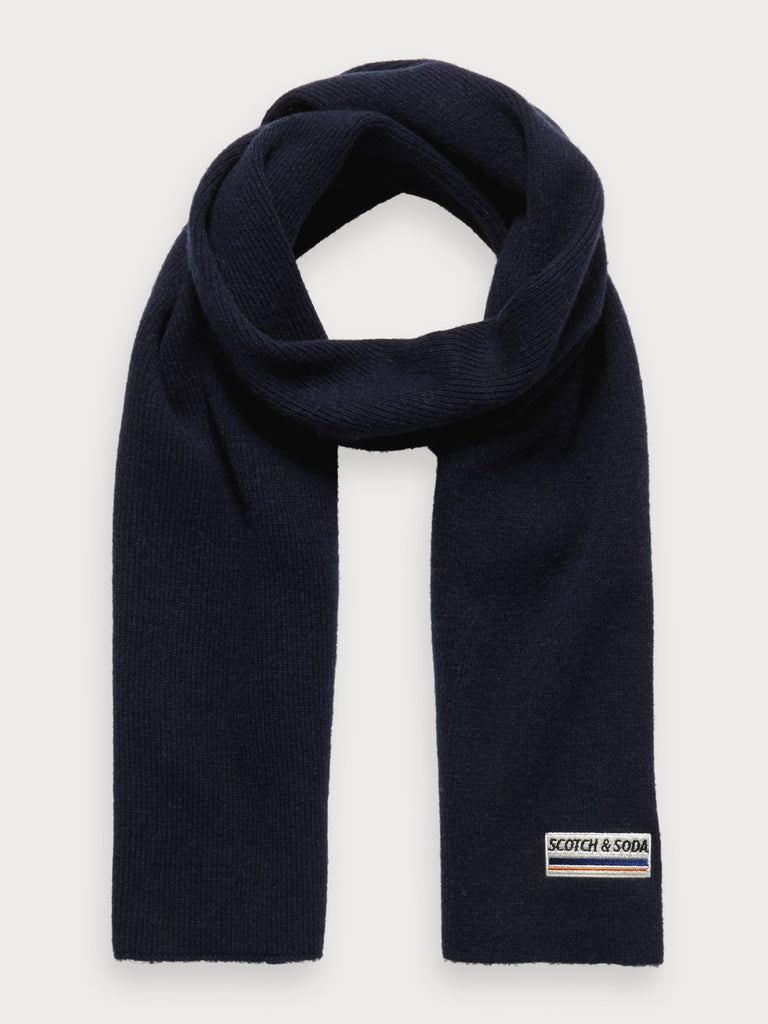 Scotch & Soda - Classic Knit Wool Scarf - Night