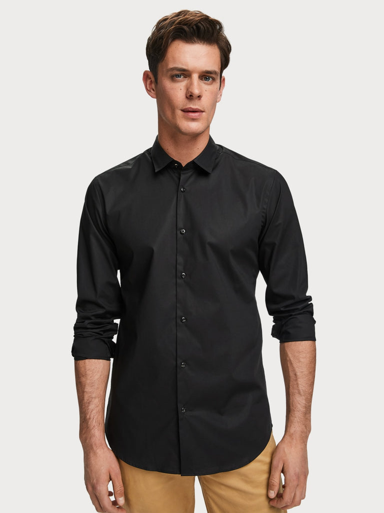 Scotch & Soda - NOS Classic Elastane Shirt - Black