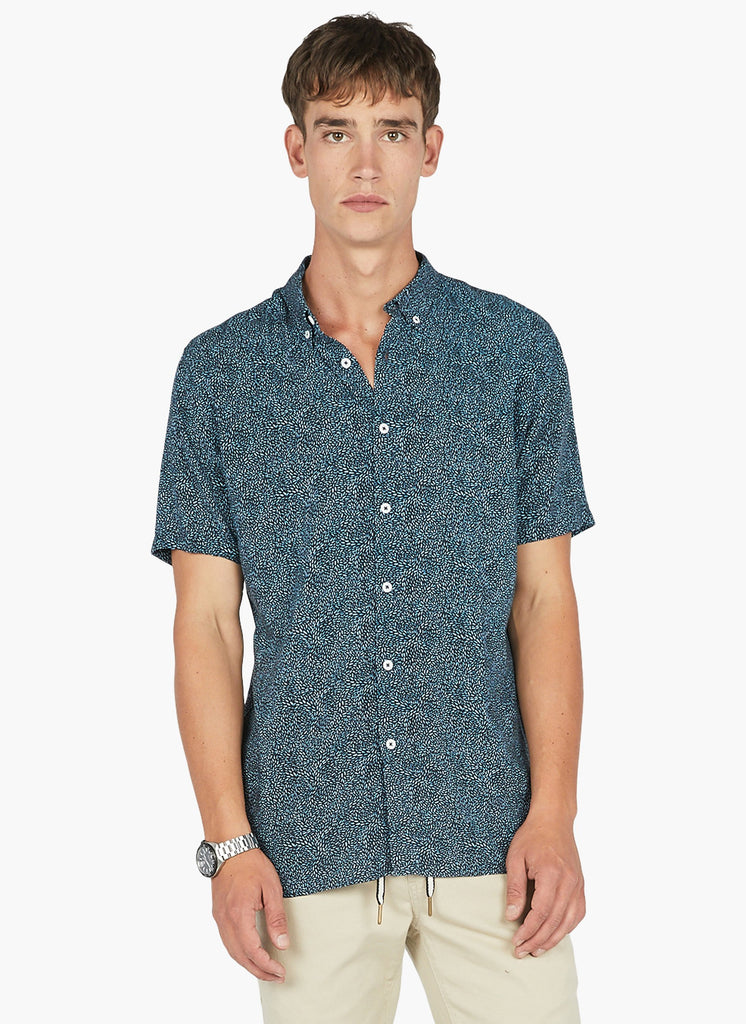 Barney Cools - Holiday SS Shirt - Blue Ditzi