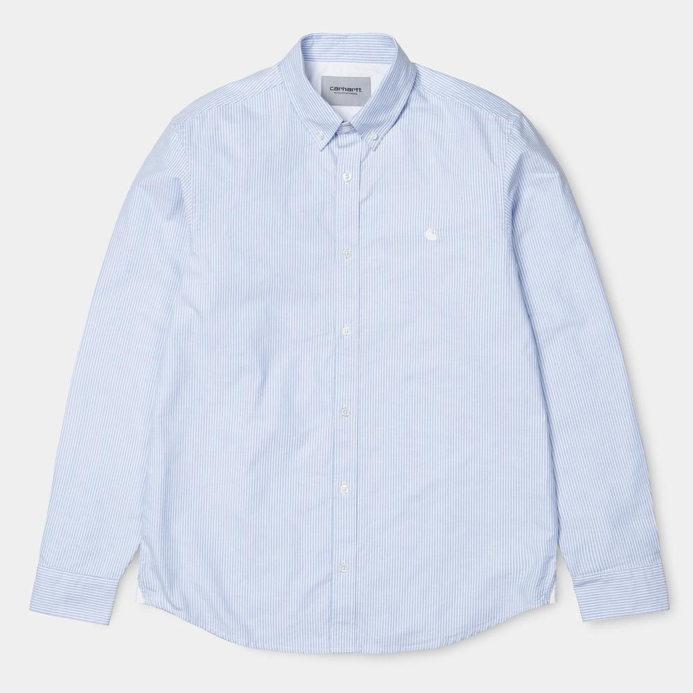 Carhartt - Duffield L/S Shirt - Stripe Bleach