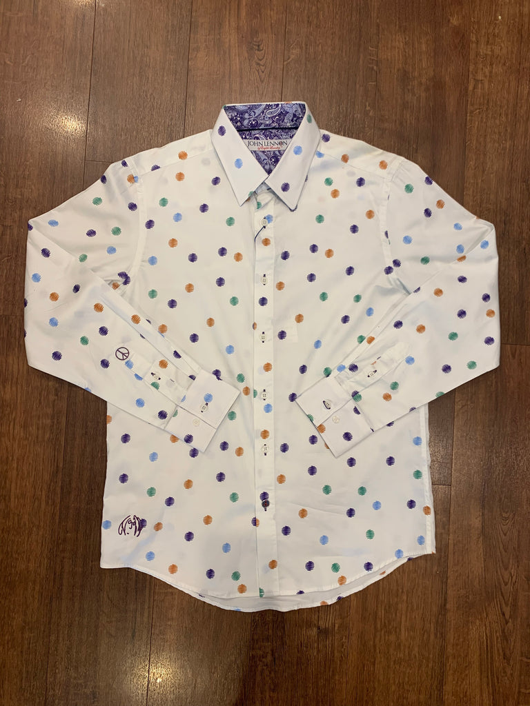 English Laundry - John Lennon Shirt - White/Multi
