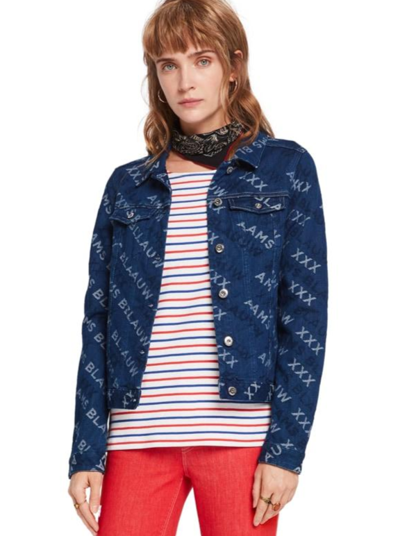 Maison Scotch - Jaquard Trucker Jacket - Logo Love