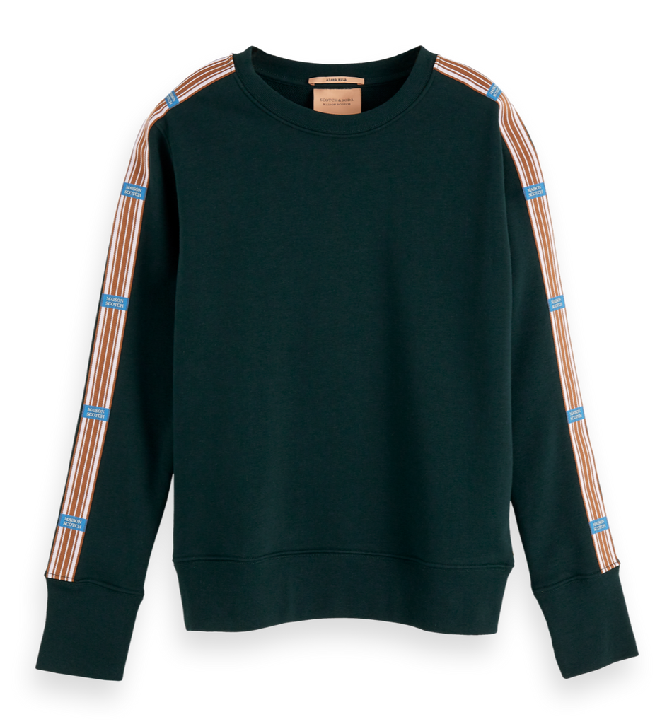 Maison Scotch - Branded Crew Neck Sweat - Green
