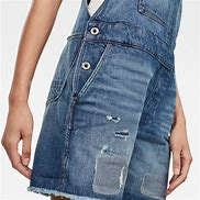 G-Star Raw - Faeroes bf Short Overall - Faded Ripped Shore