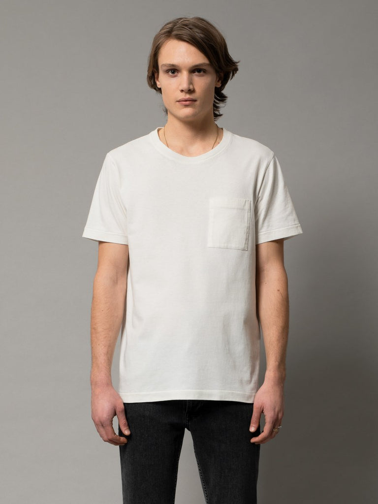 Nudie - Roy One Pocket Tee - Offwhite