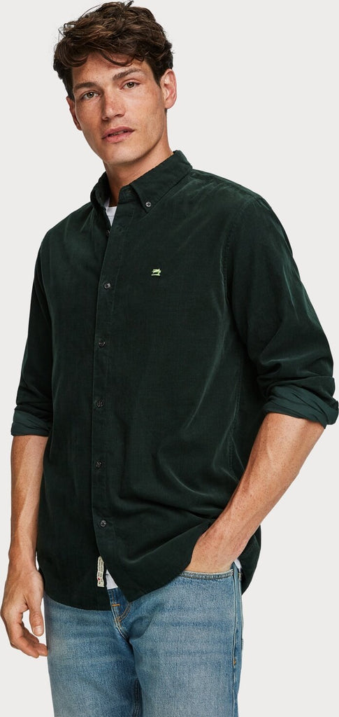 Scotch & Soda - Corduroy Shirt - Bottle Green