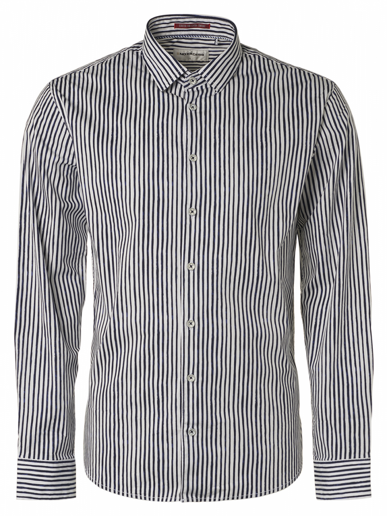 No Excess - Stripes LS Shirt - Night