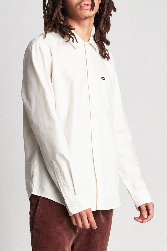Brixton - Charter Oxford LS Shirt - Off White