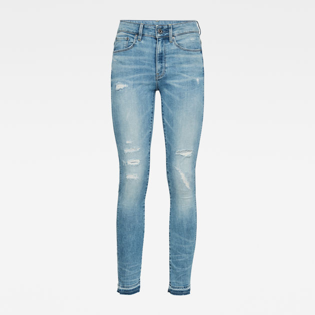 G-Star Raw - 3301 High Skinny Rp Ed Ankle - Vintage Ripped Sky