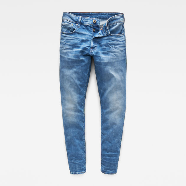 G-Star Raw - 3301 Straight Tapered Jeans - Worn In Azure