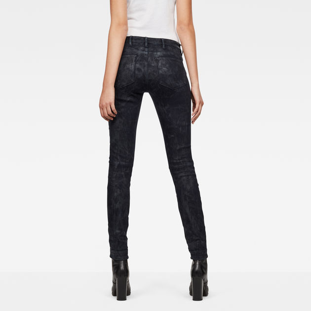 G-Star Raw - 5622 Mid Waist Skinny Jeans - Black Painted