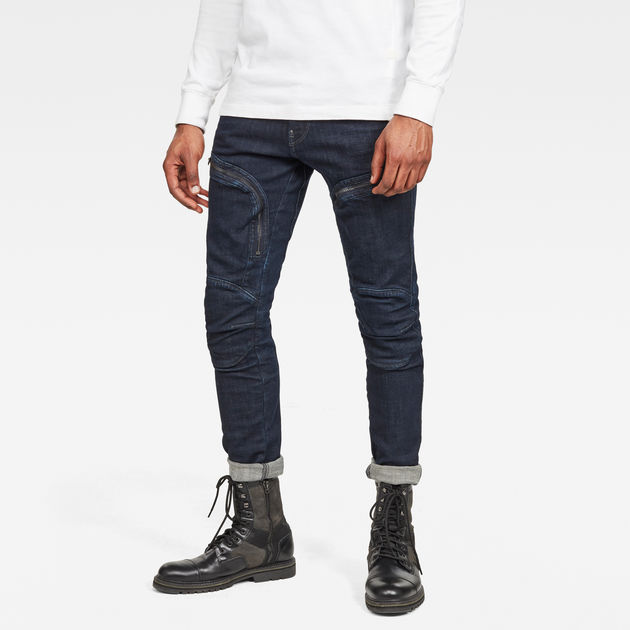 G-Star Raw - Air Defence Zip Skinny Jean - 3D Raw Denim