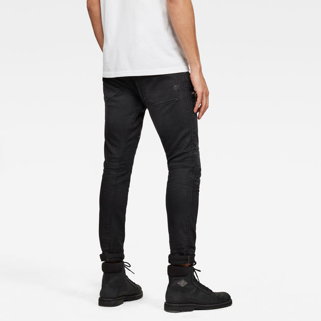 G-Star Raw - Air Defence Zip Skinny Jean - Dry Waxed Basalt