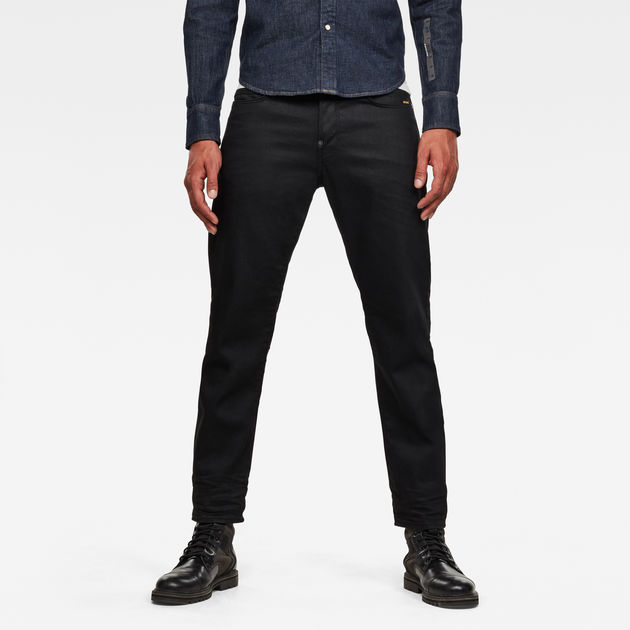 G-Star Raw - Alum Relaxed Tapered Originals Jean - 3D Pitch Black