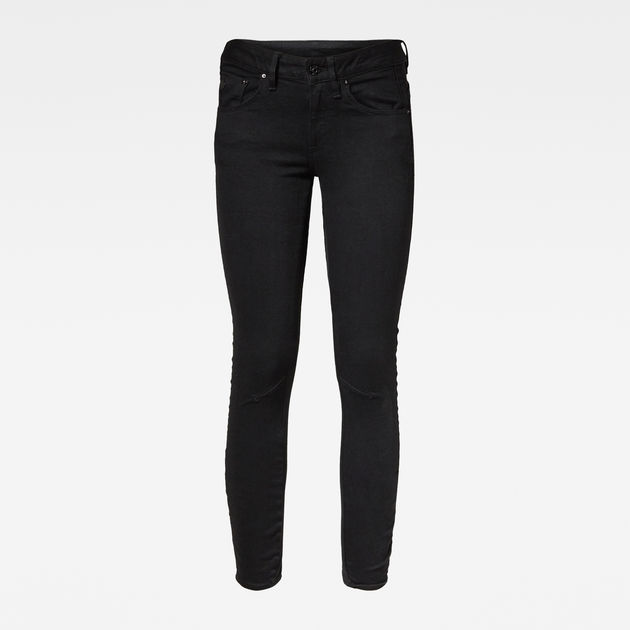 G-Star Raw - Arc 3D Mid Skinny Jean - Pitch Black