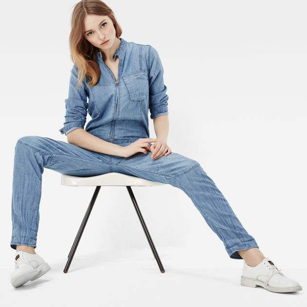 G-Star Raw -  Chopper Boyfriend Boiler Suit - New Light Aged