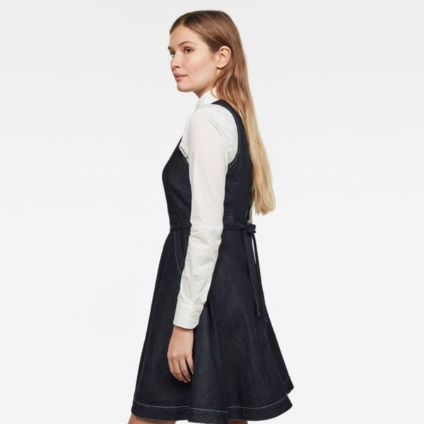 G-Star Raw - Core Fit and Flare Dress - Rinsed