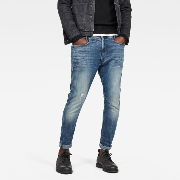 G-Star Raw - D-Staq 3D Slim Jeans - Light Aged Restored