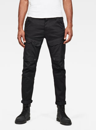 G-Star Raw - Front Pocket Slim Cargo Pants - Dark Black