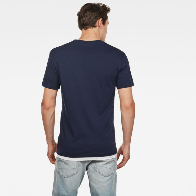 G-Star Raw - Graphic 8 R Tee - Sartho Blue