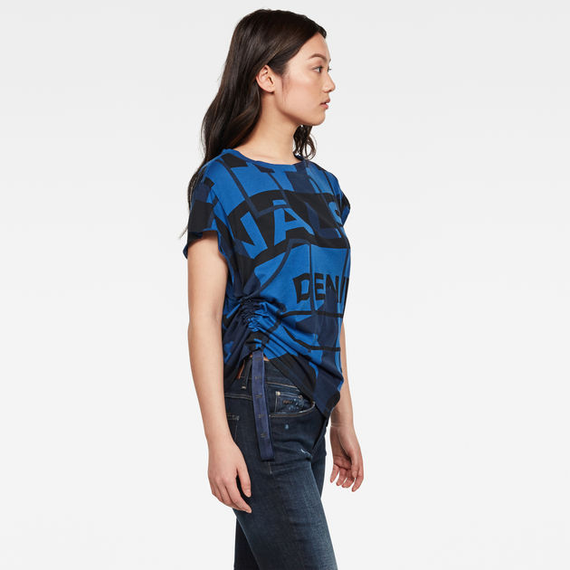 G-Star Raw - Gyre Allover Knot Top - Deep True Blue Modernist