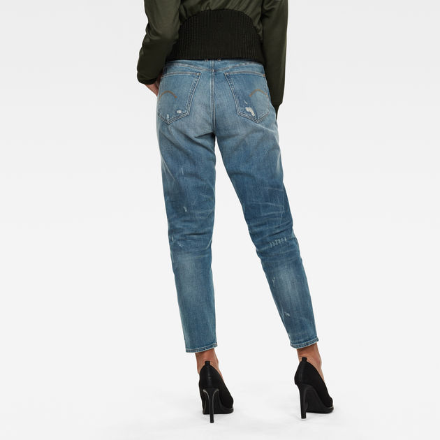 G-Star Raw -  Janeh Ultra High Mom Ankle Jeans - Sun Faded Prussian Blue Restored