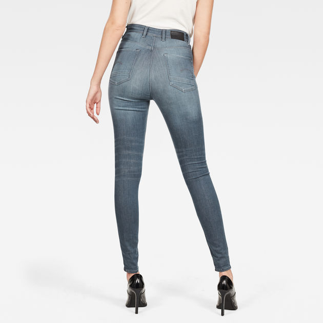G-Star Raw - Kafey Ultra High Skinny Jean - Worn In Chert Grey