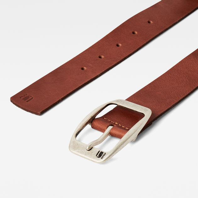 G-Star Raw - Ladd Belt - Cognac / Antic Silver