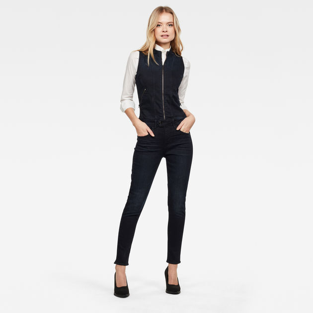 G-Star Raw - Lynn 2-Zip Slim Jumpsuit - Worn In Blue Storm