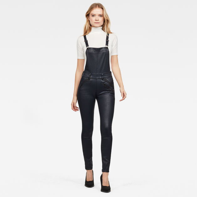 G-Star Raw - Lynn Biker High Waist Skinny Overall - Rinsed
