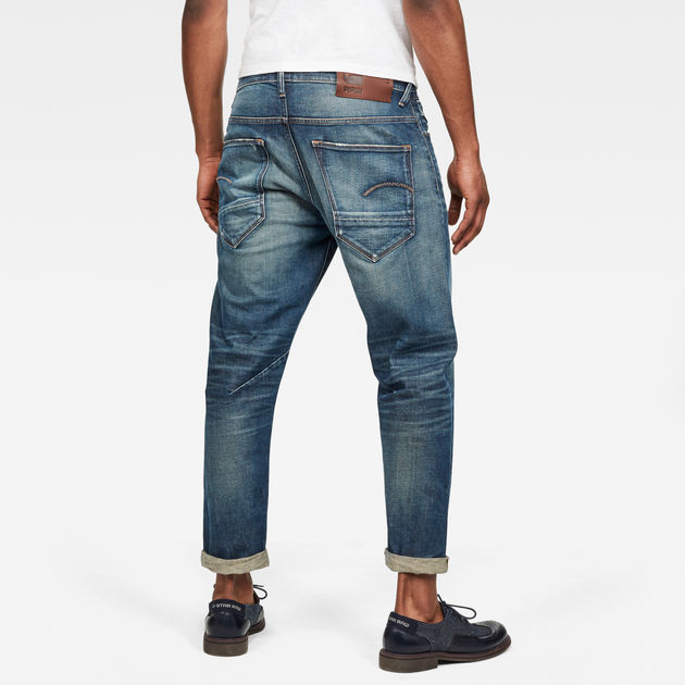 G-Star Raw - Morry 3D Relaxed Tapered Jeans - Faded Pacific Destroyed