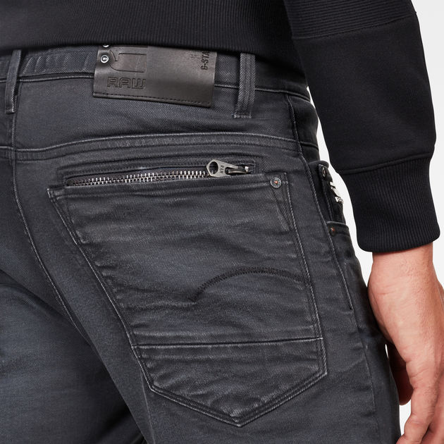 G-Star Raw - Radar Zip Straight Tapered Jeans - Dry Waxed Pebble Grey