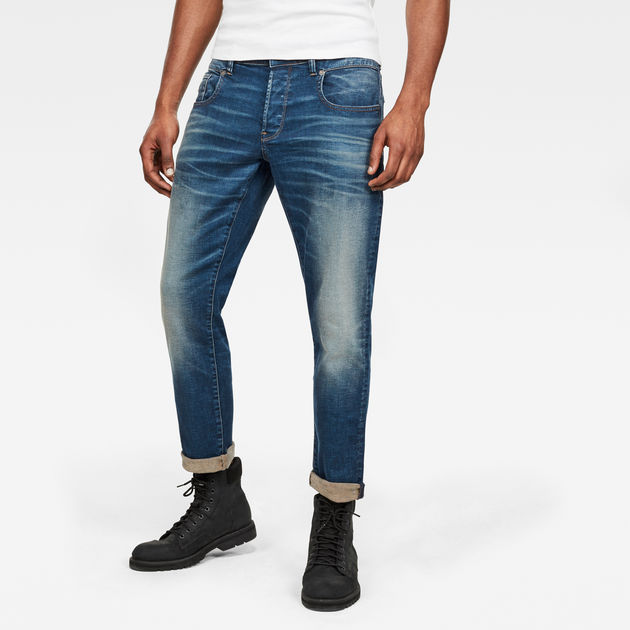 G-Star Raw - Radar Zip Straight Tapered - Worker Blue Faded