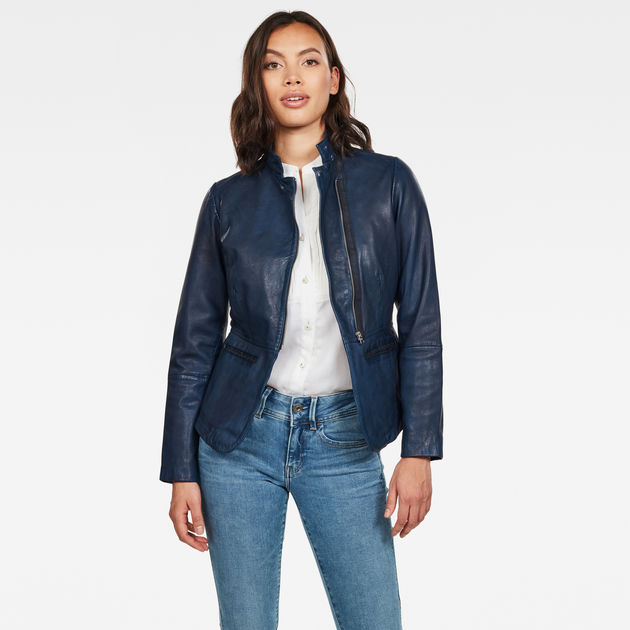 G-Star Raw - Rimu Zip Blazer - Mazarine Blue