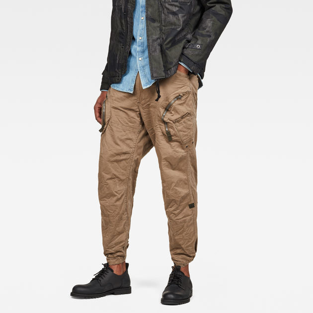 G-Star Raw - Rovic 3D Airforce Relaxed Trousers - Oak