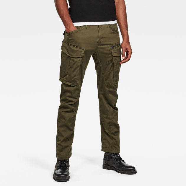 G-Star Raw - Rovic Zip 3D Straight Tapered Pant - Dark Bronze Green