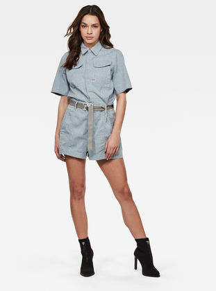 G-Star Raw - Short Jumpsuit - Sun Faded Indigo