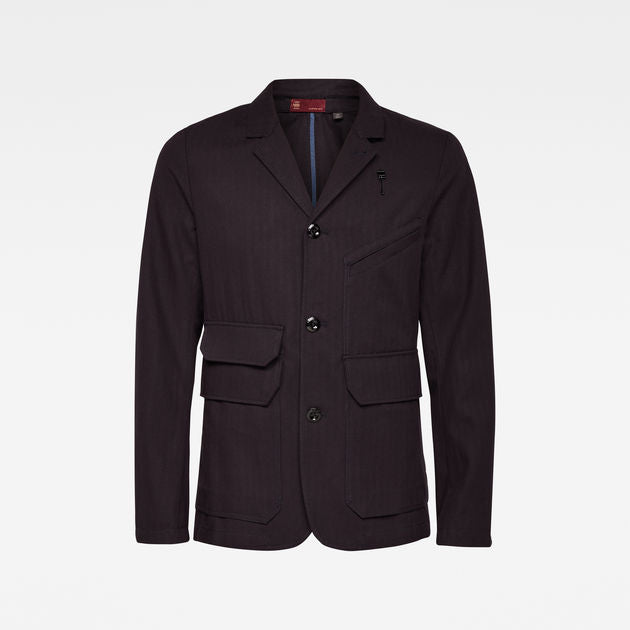 G-Star Raw - Utility 4 Button Blazer - Mazarine Blue