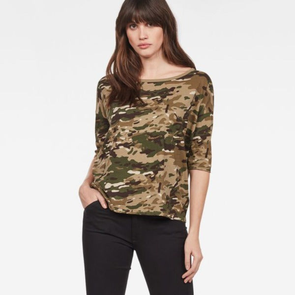 G-Star Raw - Vim Loose R Tee - Khaki/Army Green AO