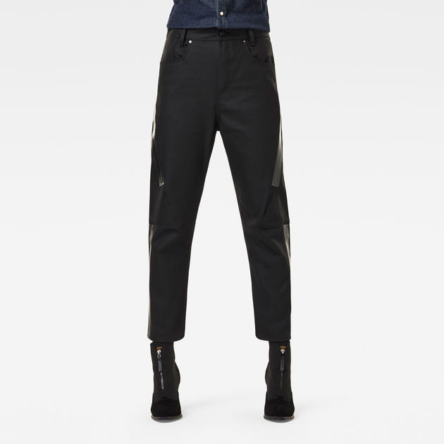 G-Star Raw - X-Staq 3D Boyfriend Crop Jean - Pitch Black