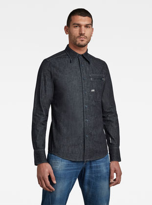 G-Star Raw - Zip Pocket Slim Shirt - Rinsed