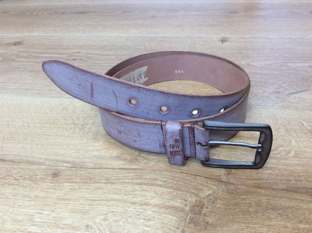 No Excess - Leather Belt - Crayon Tan