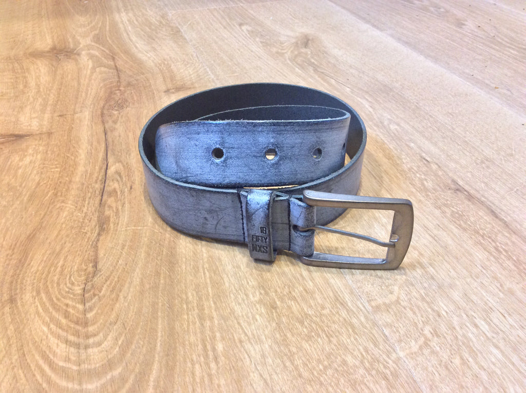 No Excess - Leather Belt - Crayon Fog