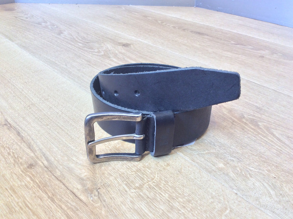 No Excess - Wide Leather Belt - Black
