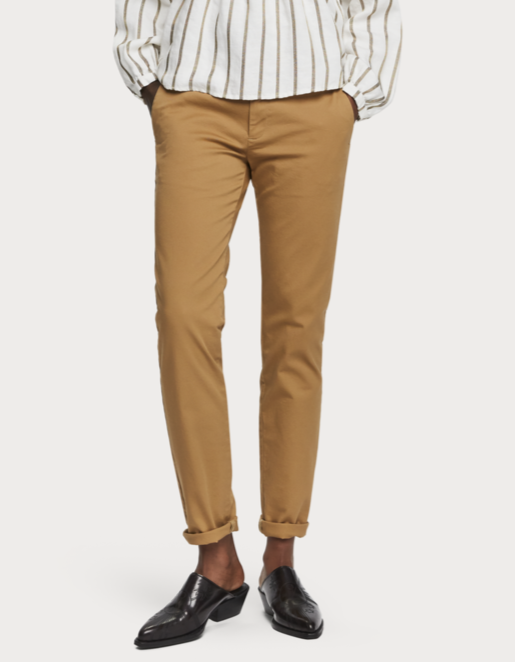 Maison Scotch - Slim Chino With Belt - Camel